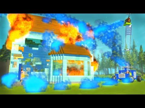 BURNING HOUSE VS CRAPPY FIRETRUCK!! - Scrap Mechanic Challenge!