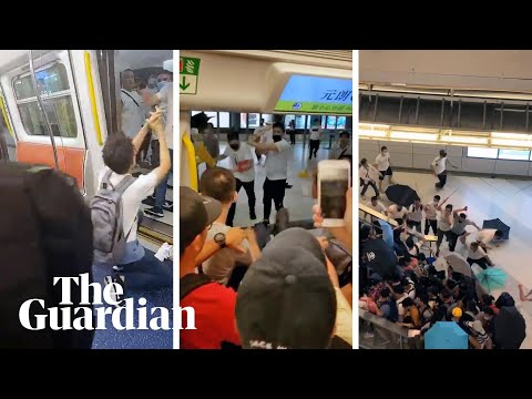 Armed men attack pro-democracy protesters in Hong Kong MTR station