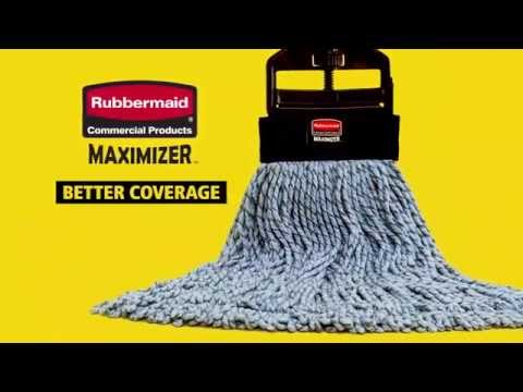 Product video for Maximizer™ Large Microfiber Wet Mop, Universal Headband, Blue