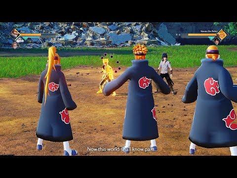 JUMP FORCE - The Six Paths of Pain vs Naruto & Sasuke