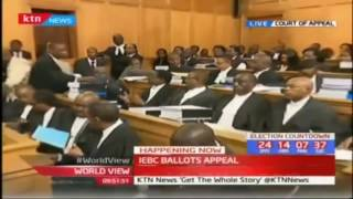 Court of Appeal hears the IEBC presidential ballot printing tender case after the High Court ruling