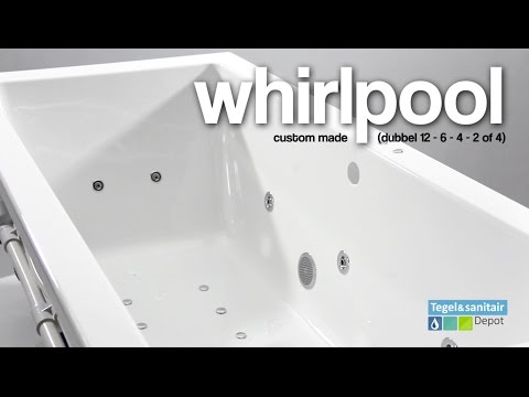 Ligbad Bruynzeel Rimo 145x145 cm zeshoek Balboa Whirlpool Dubbel systeem