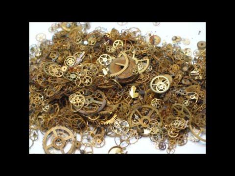 сколько золота в шестеренках  от часов 120 грамм аффинаж