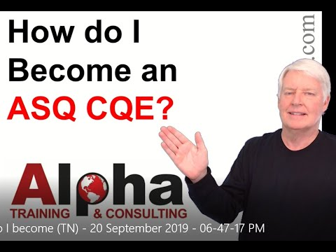 How do I become a certified quality engineer (ASQ CQE)? - YouTube