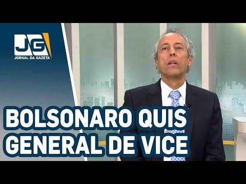Bolsonaro quis general de vice, PRP não quis...E como roubavam bilhões na ditadura