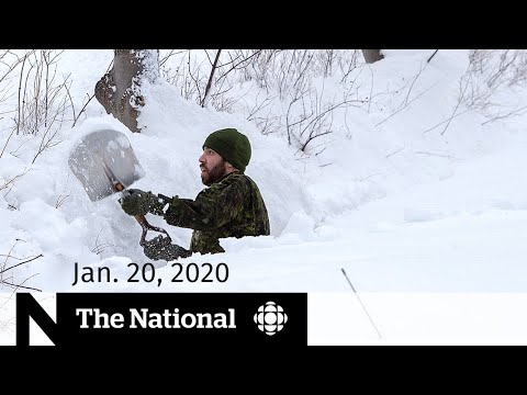 WATCH LIVE: The National for Monday, Jan. 20 — Storm cleanup in N.L.; Coronavirus concerns