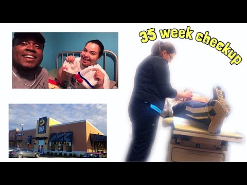 35 Week Check up & Ava shopping spree || Daily Vlogs #10