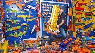 $5,000 NERF Gun Arsenal Room Overhaul!