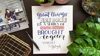 8 Hand Lettering Fonts! How-To Draw Different Styles