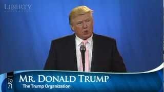 Donald Trump - Liberty University Convocation