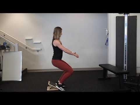Heel Elevated Bodyweight Squat