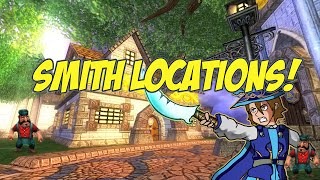 Wizard101: Wizard City Smith Locations!