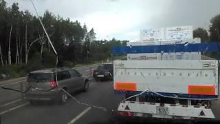 Авария под Вязьмой , в сторону Москвы , 19.06.17