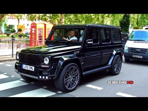 Mercedes-Benz BRABUS G-Class K8 in London! BEAST Exhaust Sounds!