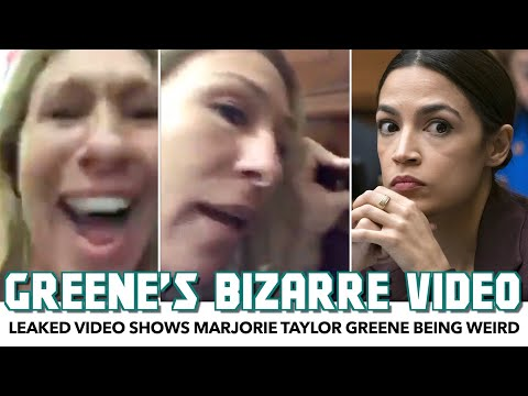 Leaked Video Shows Marjorie Taylor Greene Being Obsessive And Weird In Front Of AOC's Door