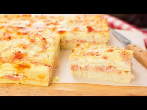 Pastel de Bacon y Queso con Pan de Molde