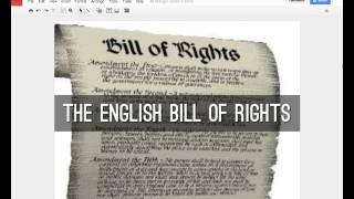 Applying the English Bill of Rights