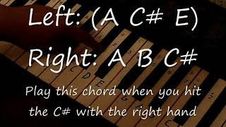 The Final Countdown Piano Tutorial with chords (both hands)