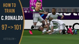How to train CRISTIANO RONALDO from 97 to 101 in PES Mobile 2020