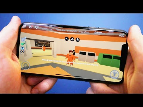 Playing Roblox on the iPhone X!