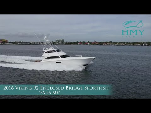 Viking 92 Enclosed Bridge Sportfish video