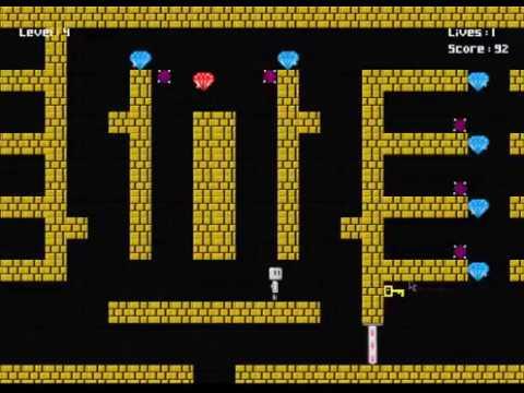 Java 2D platformer game Diamond Hunt (Level 4 playthrough)