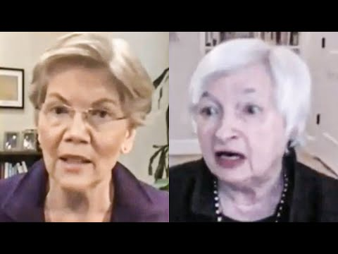 Elizabeth Warren GRILLS Janet Yellen On Oversight