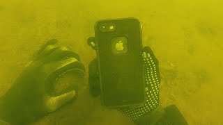 Found iPhone 8 in Lifeproof Case Underwater While Scuba Diving in the River! (Returned to Owner)