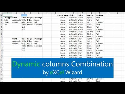 QQ44 Dynamic columns Combination