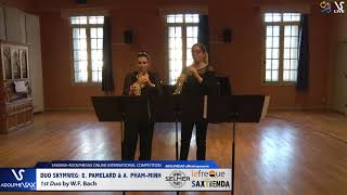 DUO SKYMWEG play Bach & Hindemith #adolphesax