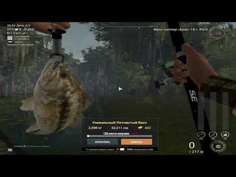 Fishing Planet 3.2.5-Уникальный пятнистый басс/Кванчкин
