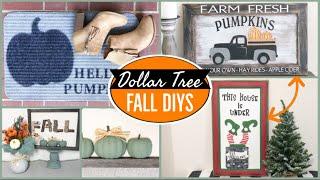 EASY DOLLAR TREE DIY FALL DECOR 2020
