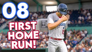 MLB 21 Road to the Show - Part 8 - MY FIRST HOME RUN!