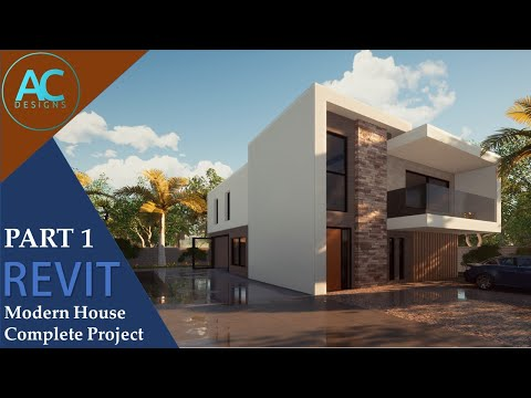 Modern House | Part 1 | Complete Step by Step Project | Revit Tutorial