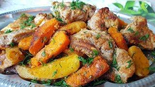 Жаркое с тыквой, цыганка готовит. Мясо с тыквой и картошкой. Gipsy cuisine.🥩🥔🍖
