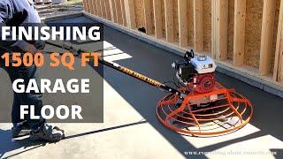 How To Power Trowel A 1500 Sq Ft Garage Floor (New Power Trowel)
