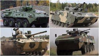 BTR-82A, Bumerang IFV, BMP-3, BMD-4M, Iskander-M - Day-Night firing exercise