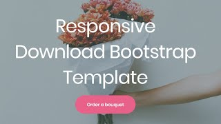 Gambar cover Download Bootstrap Template - Free HTML Website Templates