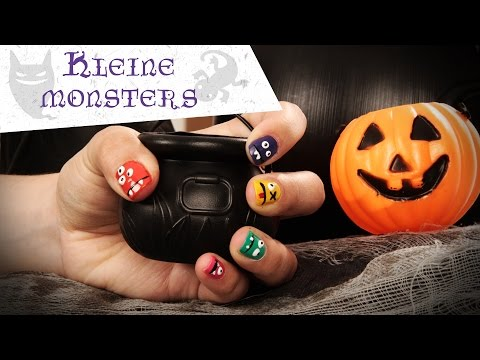 Halloween nail art: Kleine monsters