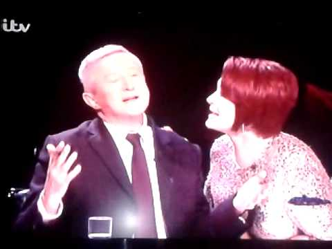 Sharon Osbourne trying to snog Louis Walsh, begging, I will do anything X factor 20th October 2013