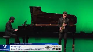 Pierre Faget plays Chant du Ménestrel opus 71 by Alexander GLAZUNOV