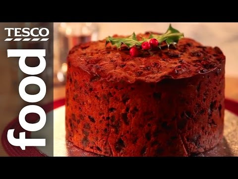 Video How to Make Christmas Cake   Tesco Food