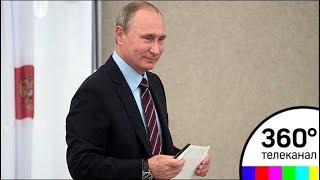 Путина сняли на видео при голосовании на муниципальных выборах
