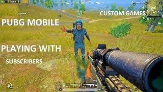 pubg mobile playing with subscribers II funny gameplay doing challenges II hindi /english