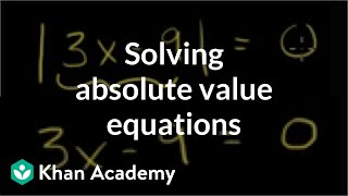 Absolute Value Equations 1