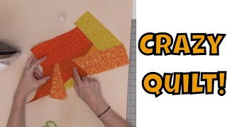 How To Make A Crazy Quilt - Y Seam Piecing Tutorial With Leah Day