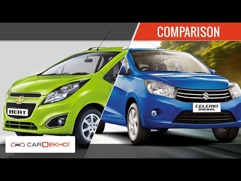 Maruti Suzuki Celerio Diesel Vs Chevrolet Beat | Comparison Video | CarDekho.com