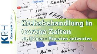 Patientenakademie live: Krebsbehandlung in Corona-Zeiten