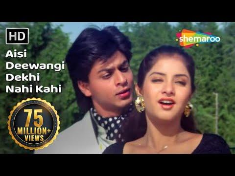 Aisi Deewangi Dekhi Nahi Kahi | Deewana Song | Shah Rukh Khan | Divya Bharti | Most Viewed Song