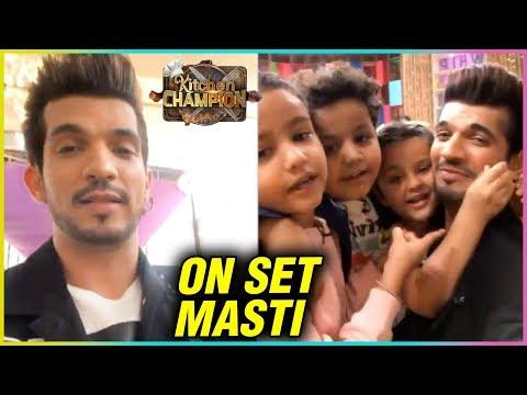 Arjun Bijlani Behind The Scenes Masti With Kids |